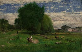 The Road to the Village, Milton | George Inness | Painting Reproduction
