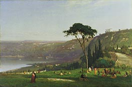 Lake Albano | George Inness | Painting Reproduction