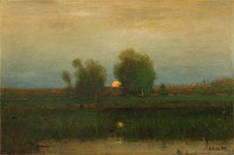 Moonrise, Alexandria Bay, 1891 by George Inness | Painting Reproduction