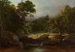 Stream in the Mountains, c.1850 by George Inness | Painting Reproduction