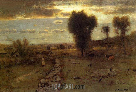 The Clouded Sun, 1891 | George Inness | Gemälde Reproduktion