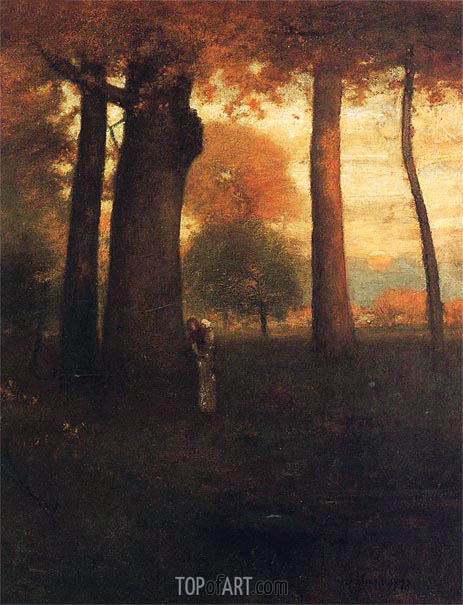 Sunset, Golden Glow, 1893 | George Inness | Painting Reproduction