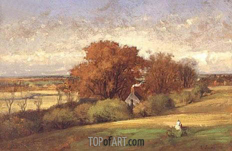 The Old Oak, Medfield, Massachusetts, 1875 | George Inness | Painting Reproduction
