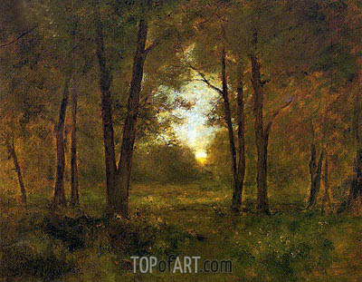 Sundown near Montclair, 1885 | George Inness | Painting Reproduction