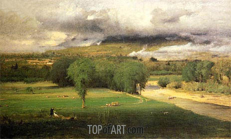 Saco Ford - Conway Meadows, 1876 | George Inness | Painting Reproduction