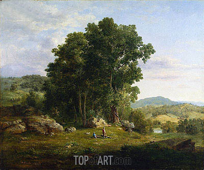 The Wood Chopper, 1849 | George Inness | Gemälde Reproduktion