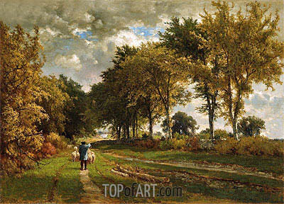 The Road to the Farm, 1862 | George Inness | Painting Reproduction