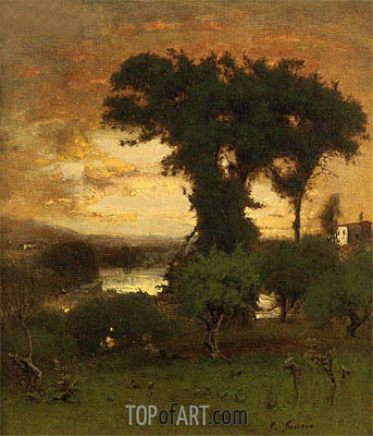 Afterglow, c.1878 | George Inness | Gemälde Reproduktion