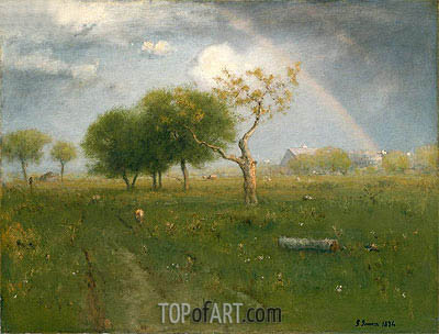 After a Summer Shower, 1894   George Inness   Painting Reproduction