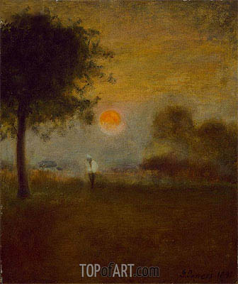 Moonrise, 1891   George Inness   Painting Reproduction
