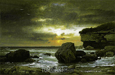 Etretat, Normandy, France, c.1874/75 | George Inness | Painting Reproduction