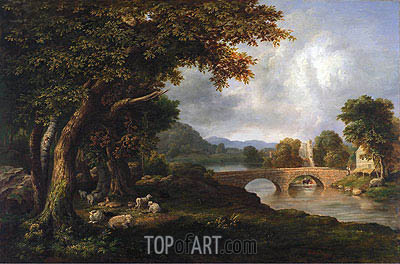 Landscape, 1848   George Inness   Painting Reproduction