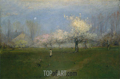 Spring Blossoms, Montclair, New Jersey, c.1891 | George Inness | Painting Reproduction