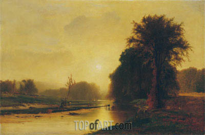 Autumn Meadows, 1869 | George Inness | Painting Reproduction