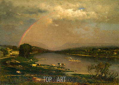 Delaware Water Gap, 1861 | George Inness | Painting Reproduction