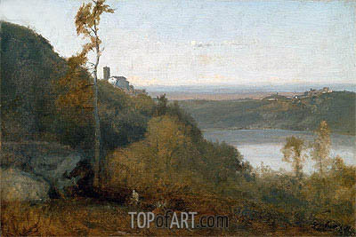 Lake Nemi, a.1874 | George Inness | Painting Reproduction