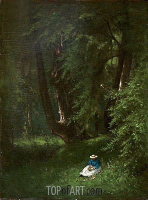 In the Woods, 1866 | George Inness | Painting Reproduction