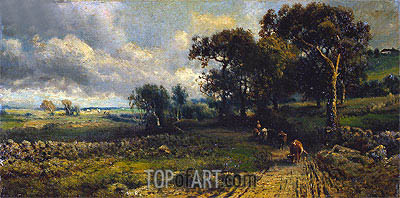 Fleecy Clouds, 1881 | George Inness | Painting Reproduction