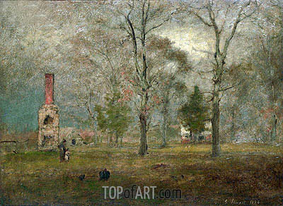 Grey day, Goochland, 1884 | George Inness | Painting Reproduction