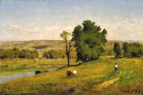 Landscape, 1878 | George Inness | Painting Reproduction