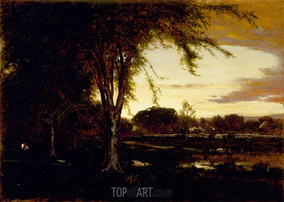 Landscape, 1866 | George Inness | Painting Reproduction