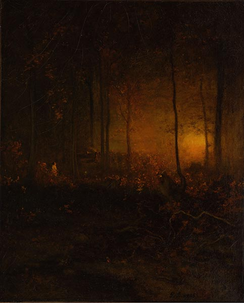 Watching the Sun Glow, 1887 | George Inness | Painting Reproduction