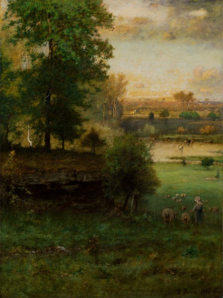 Scene at Durham, an Idyll, c.1882/85 | George Inness | Painting Reproduction