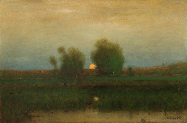 Moonrise, Alexandria Bay, 1891 | George Inness | Painting Reproduction