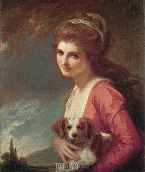 Lady Hamilton as 'Nature', 1782 | George Romney | Painting Reproduction