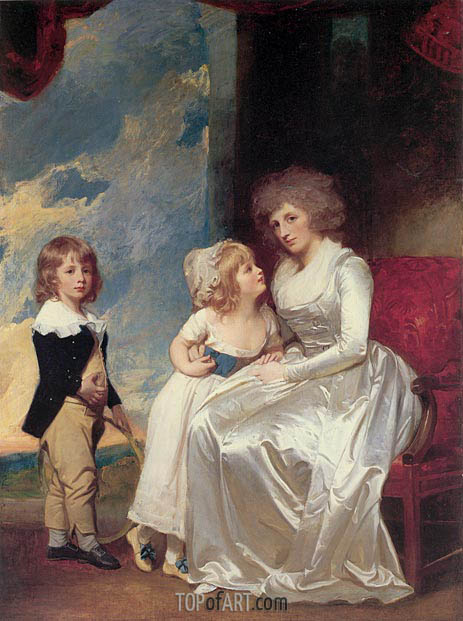 The Countess of Warwick and Her Children, c.1787/89 | George Romney | Painting Reproduction