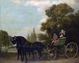 A Gentleman driving a Lady in a Phaeton | George Stubbs | Painting Reproduction