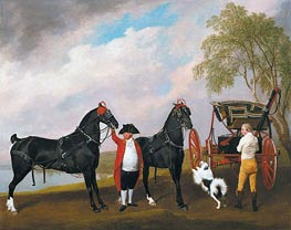The Prince of Wales's Phaeton, 1793 by George Stubbs | Painting Reproduction
