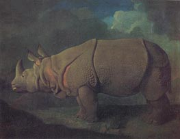 Rhinoceros, c.1790/91 by George Stubbs | Painting Reproduction