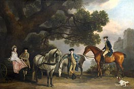 The Milbanke and Melbourne Families, c.1769 by George Stubbs | Painting Reproduction