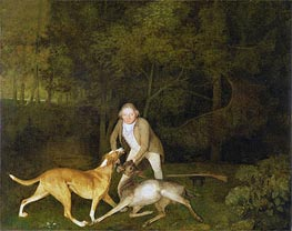 Freeman, the Earl of Clarendon's Gamekeeper with a Dying Doe and Hound, 1800 von George Stubbs | Gemälde-Reproduktion