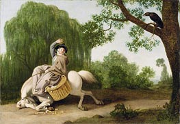 The Farmer's Wife and the Raven, 1786 von George Stubbs | Gemälde-Reproduktion