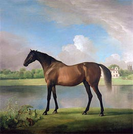 Lord Bolingbroke's Brood Mare in the Grounds of Lydiard Park, Wiltshire, c.1764/66 von George Stubbs | Gemälde-Reproduktion