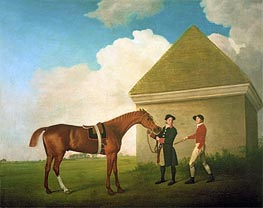 Eclipse at Newmarket with a Groom and a Jockey, 1770 von George Stubbs | Gemälde-Reproduktion