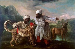 Cheetah and Stag with Two Indians, c.1765 von George Stubbs | Gemälde-Reproduktion
