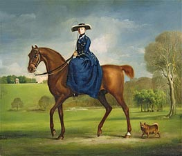 The Countess of Coningsby in the Costume of the Charlton Hunt, c.1760/61 von George Stubbs | Gemälde-Reproduktion