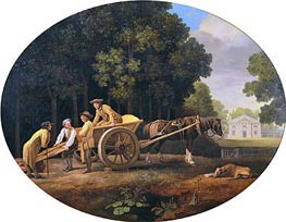 Labourers, 1781 by George Stubbs | Painting Reproduction