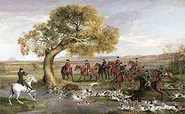 The Grosvenor Hunt, 1762 by George Stubbs | Painting Reproduction