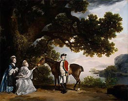Captain Samuel Sharpe Pocklington with His Wife, Pleasance, and possibly His Sister, Frances, 1769 by George Stubbs | Painting Reproduction