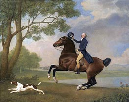 Portrait of Baron de Robeck Riding a Bay Hunter, 1791 by George Stubbs | Painting Reproduction