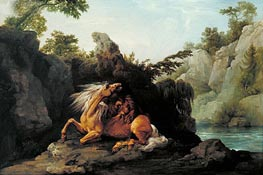 Horse Devoured by a Lion, 1763 by George Stubbs | Painting Reproduction