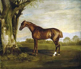 Antinoüs, a Chestnut Racehorse in a Landscape | George Stubbs | Painting Reproduction