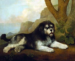 A Rough Dog, 1790 by George Stubbs | Painting Reproduction