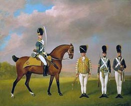 Soldiers of the 10th Light Dragoons, 1793 by George Stubbs | Painting Reproduction