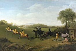 Racehorses Exercising | George Stubbs | Painting Reproduction
