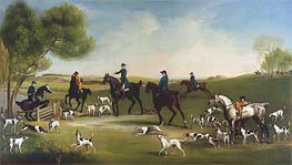 The Duke of Richmond with the Charlton Hunt, c.1859/60 by George Stubbs | Painting Reproduction